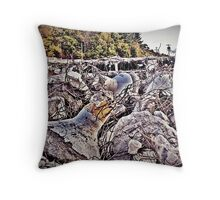 Landing Pods Heaped Upon The Moon Throw Pillow