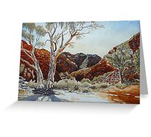 Barraranna Gorge, Arkaroola, Flinders ranges Greeting Card