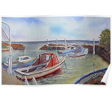 Boat Harbour, Williamstown Poster