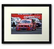 Scott McLoughlin Leading Jamie Whincup At The V8 Supercars Ipswich 360 Framed Print