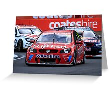 Scott McLoughlin Leading Jamie Whincup At The V8 Supercars Ipswich 360 Greeting Card