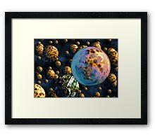 Asteroid Field Framed Print