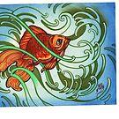 goldfish in the water, koi tattoo, coy fish by resonanteye