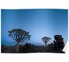 Blue Hour in the Giants Playground - Keetmanshoop Namibia Poster