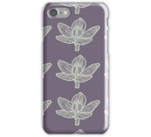 Lilac and white iPhone Case/Skin