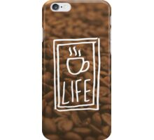 First, coffee. iPhone Case/Skin