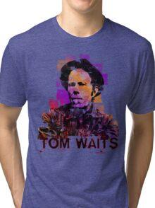 Tom Waits Watercolour Tri-blend T-Shirt
