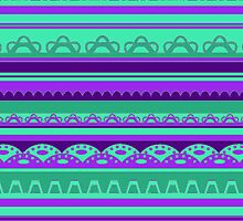 Lace pattern in bright colors by CClaesonDesign