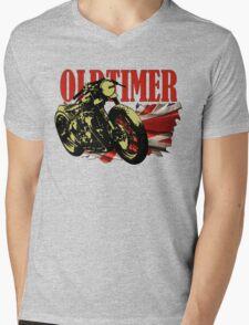Oldtimer Bobber Mens V-Neck T-Shirt