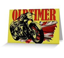 Oldtimer Bobber Greeting Card