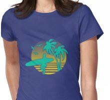 surfers beach Womens Fitted T-Shirt