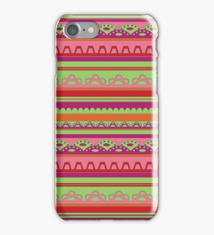 Lace pattern in bright warm colors iPhone Case/Skin