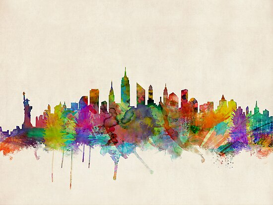 New York City Skyline by Michael Tompsett