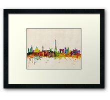 Paris Skyline Framed Print