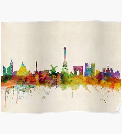 Paris Skyline Poster