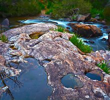 Above Serpentine Falls 2 by Scott  Cook