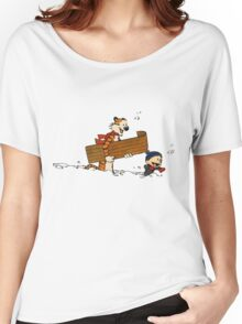 Calvin and Hobbes Winter Women's Relaxed Fit T-Shirt