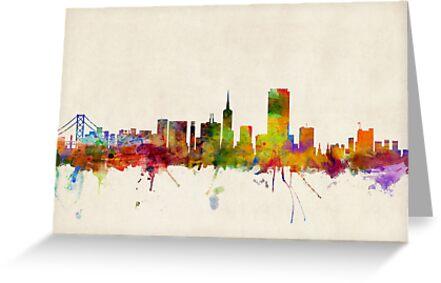 San Francisco City Skyline by Michael Tompsett