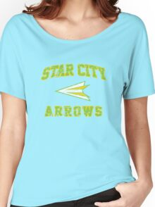 Green Arrow - American Football Style Women's Relaxed Fit T-Shirt