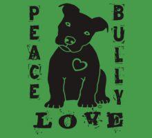 Peace Love Bully - Pit Bull Baby Tee