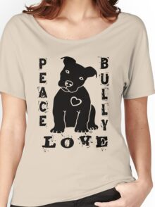 Peace Love Bully - Pit Bull Women's Relaxed Fit T-Shirt