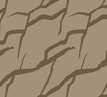 Earth color rock wall pattern by CClaesonDesign