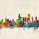 Chicago City Skyline by ArtPrints