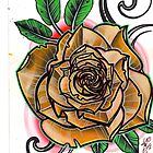 yellow tattoo rose art by resonanteye
