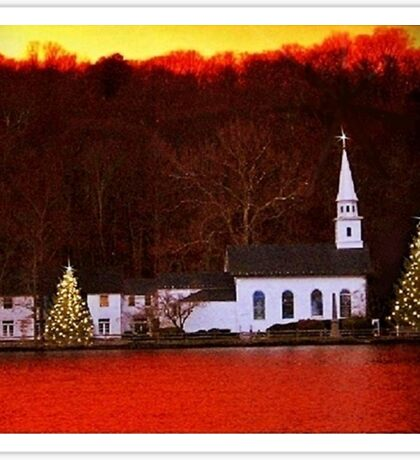 Christmas in Cold Spring Harbor New York Sticker