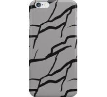Grey tone rock wall pattern iPhone Case/Skin