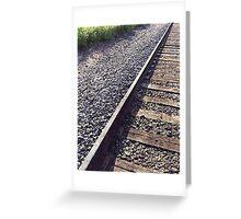 Railroad Track Greeting Card