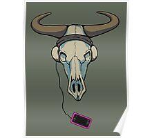 Skull likes music too Poster