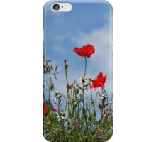 Poppies and Sky iPhone Case/Skin