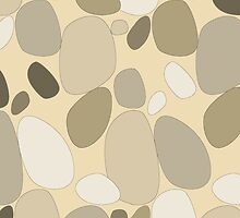 Pebble pattern in earthy and yellowish tones by CClaesonDesign