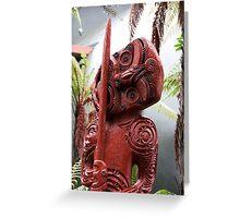 Rotorua Totem Greeting Card