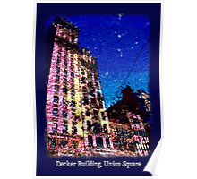 Decker Building, Union Square, NYC Poster