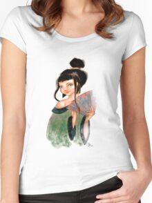 Modest Geisha in Kimono Women's Fitted Scoop T-Shirt