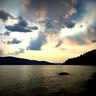 Clouds over the lake by DelisaCarnegie