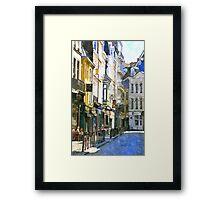 french living Framed Print