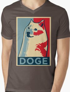 DOGE Mens V-Neck T-Shirt
