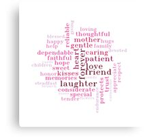 Mother's Day Wordcloud Gift Idea Canvas Print