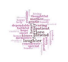 Mother's Day Wordcloud Gift Idea Photographic Print