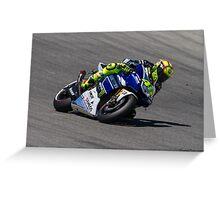 Valentino Rossi at laguna seca 2013 Greeting Card