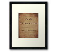 Hemingway On Literature Framed Print