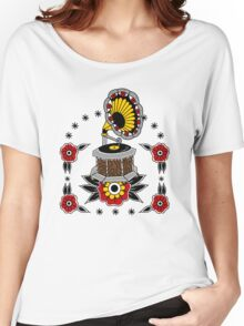 Gramophone Old Skool Tattoo Cool Stuff Women's Relaxed Fit T-Shirt