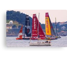 Volvo Ocean Race departure from Lisbon. 7 June 2015 . 2.00 p.m. Canvas Print