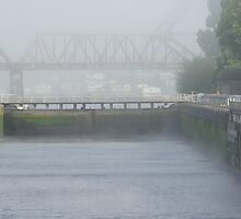 Foggy Day at the Locks by Loisb