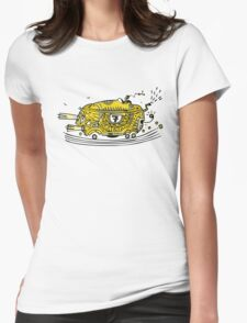 The yellow car t-shirt Womens Fitted T-Shirt