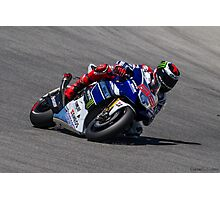 Jorge Lorenzo at laguna seca 2013 Photographic Print