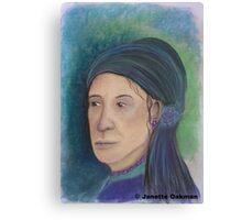 Romany Portrait - Soft Pastels Canvas Print